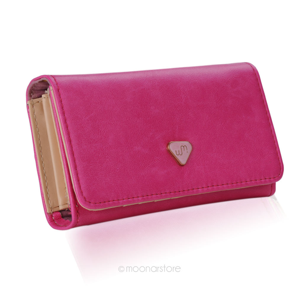 Lady Women PU Leather Zipper Handbag Wallet Clutch Purse Evening ...