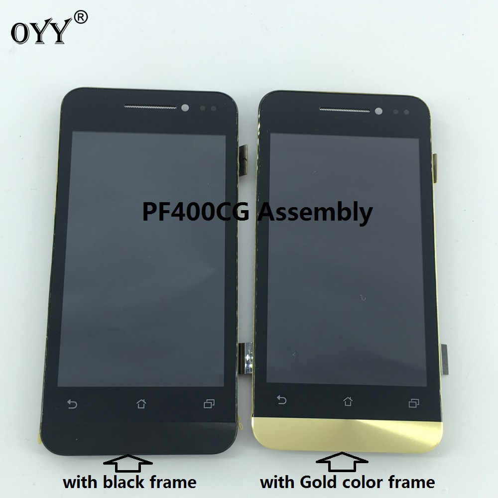 800*480 LCD Display Touch Screen Digitizer Glass Panel Replacement parts with frame For Asus PadFone mini PF400CG new case for asus padfone mini a11 lcd display touch screen panel digitizer with frame free shipping