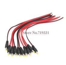 10 шт. 5.5*2.1 мм Мужской DC Мощность Разъем видеонаблюдения PSU Пигтейл кабель Jack 12 В