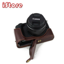 PROTECTOR For Canon EOS M50 Genuine Leather Camera Base Fuselage protection Shell Body Jacket bag fuselage cover lens cap set for canon eos m