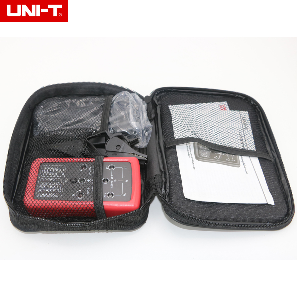 цены UNI-T UT261B Phase Sequence and LED Motor Motor Rotation Indication Tester Meters 90V~600V AC Voltage Max 400Hz