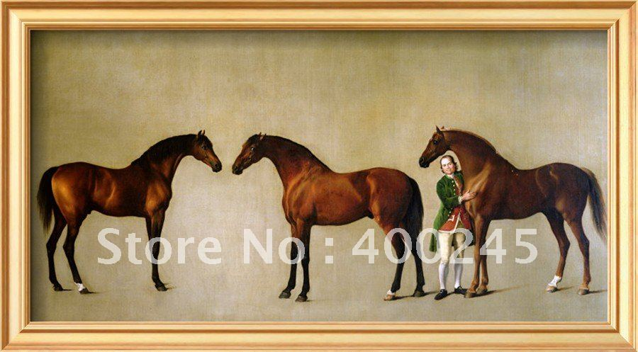 Высококачественная лошадь картина маслом на холсте свистящая куртка и два жеребца с Симоном Коббом Groomby Джорджем стабсом ручная работа