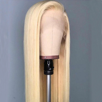 13×6 Deep Part Blonde Lace Front Wig 613 Lace Front Human Hair Wigs With Baby Hair Straight Remy Blonde Wig Aimoonsa