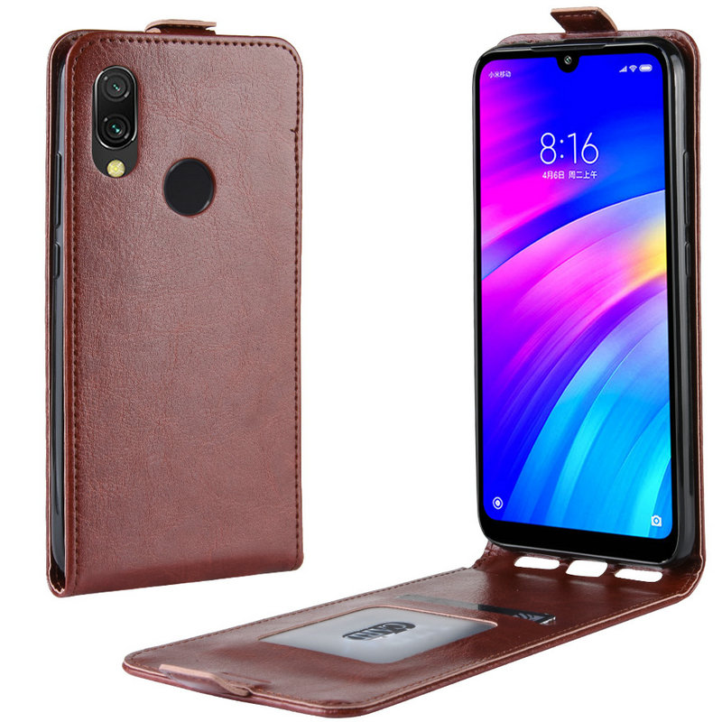 Retro Leather Cover case for <font><b>Xiaomi</b></font> <font><b>Redmi</b></font> <font><b>7</b></font> for <font><b>Xiaomi</b></font> <font><b>Redmi</b></font> <font><b>Note</b></font> <font><b>7</b></font> <font><b>Pro</b></font> Note7 16GB 32GB 64GB <font><b>128GB</b></font> Wallet flip leather cases image
