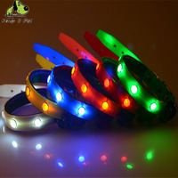 Safe LED Dog Collar For Cat Glow Collar LED Pet Products For Pet TPU Luminous Necklace