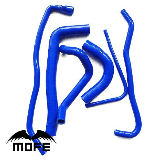MOFE 6PCS 3 Ply Original Logo Radiator Heater Coolant Silicone Hose For Saab 9000 1991-1998 Blue silicone radiator heater hose kit fit for renault 5gt r5 15pcs 1985 1991 blue