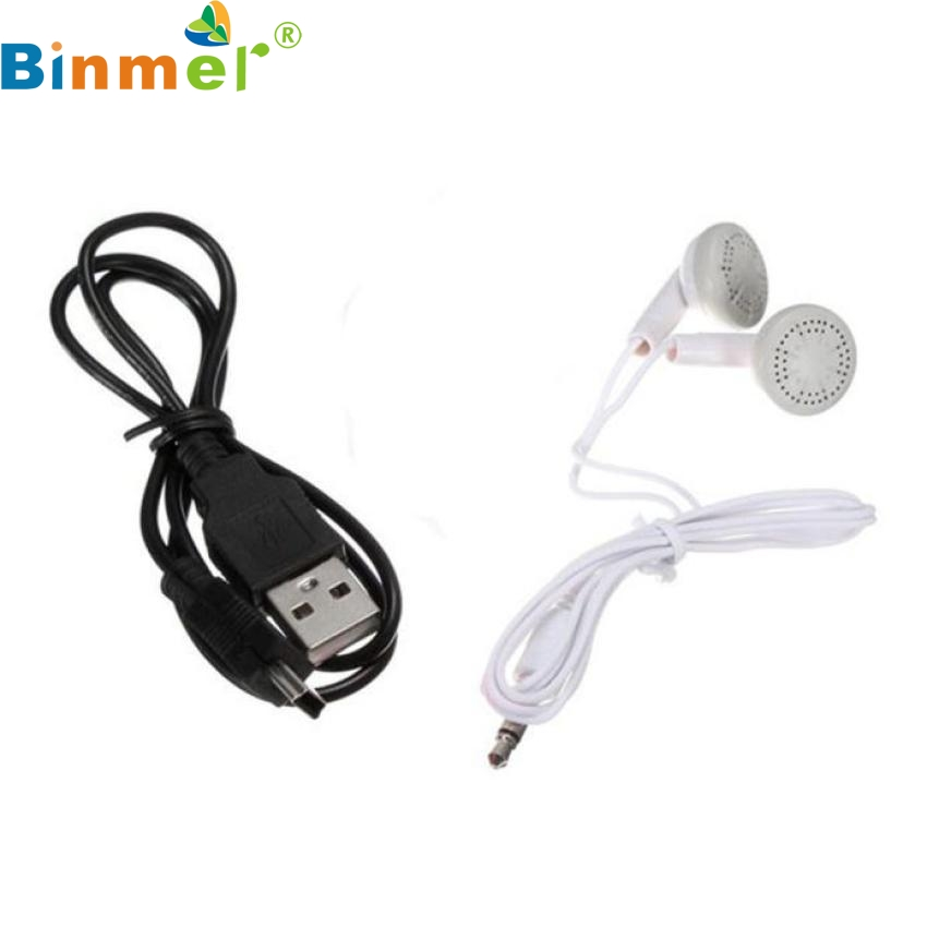 цена на Factory Price Binmer 3.5mm In-Ear Earphone Headset For Tablet MP3+Data Cable Drop Shipping Hot Selling Good Quality