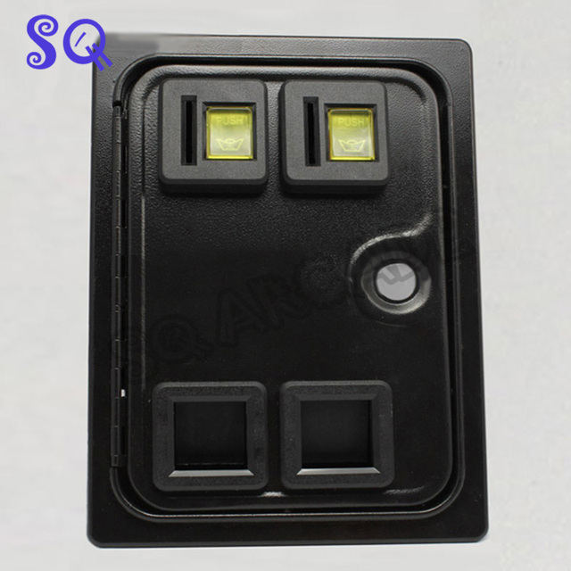 Dual american style coin door with microswitch for arcade cabinet/casino machine/slot game & Dual american style coin door with microswitch for arcade cabinet ...