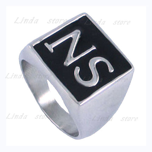 Free Shipping 316l Stainless Steel Jewelry Ring Alphabet Ns Sons Of