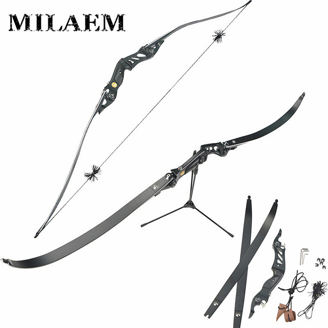 High Strength Aluminum Alloy 60 Inch 20/25/30/35/40/45/50/55 lbs Black American Hunting Recurve Bow For Outdoor Shooting Archery