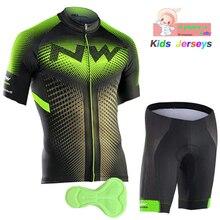Northwave майки для велоспорта Team Professional Customization Детский костюм для верховой езды дышащий детский Велоспорт Джерси комплект Ropa Ciclismo