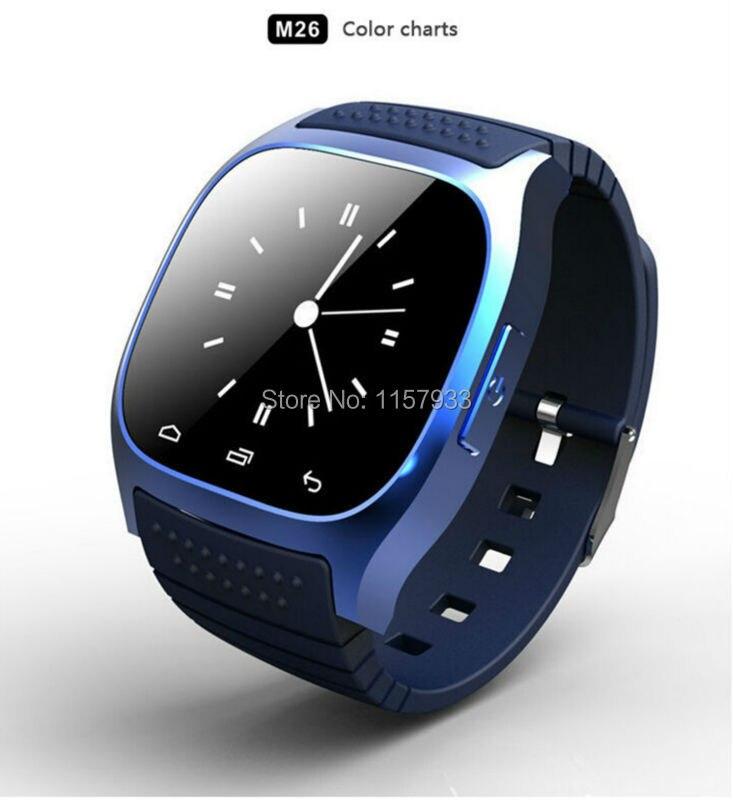Galleria fotografica Mode chaude sport Bluetooth Smart Watch téléphone numérique smartwatch M26 avec Cadran SMS Rappelez Podomètre anti-perdu pour android xiaomi