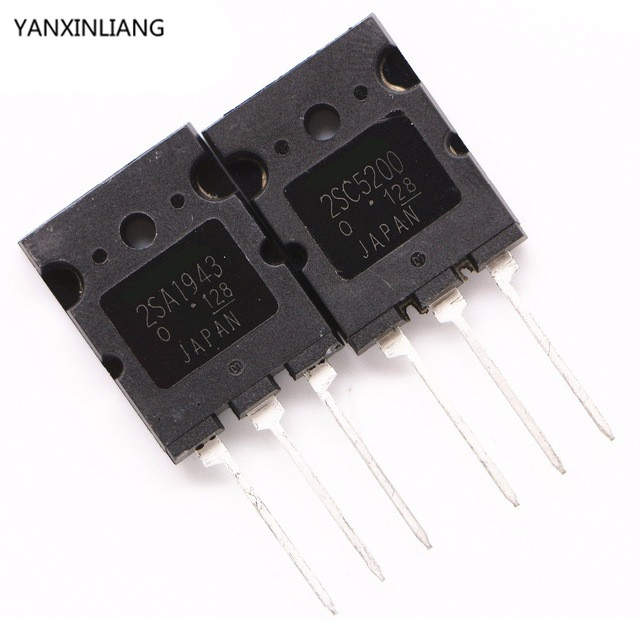 5pcs 2SA1943+5pcs 2SC5200 A1943 C5200 TO3PL Audio Amplifier Transistor Total 10pcs