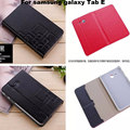 With Card Slot Crazy Leather Smart case cover for Samsung Galaxy Tab E 9.6 T560 T561 Tablet funda + screen protectors + stylus