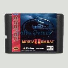 Mortal Kombat 2 16 bits MD Carte de Jeu Pour Sega Mega Drive Pour Sega Genesis