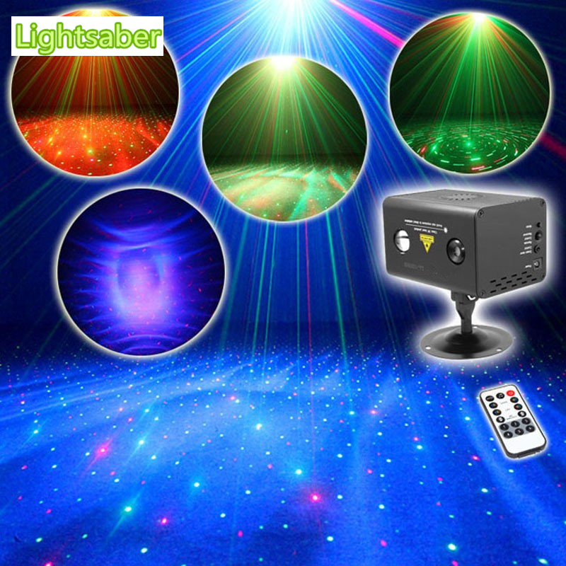 IR Control RG Laser Stage Lighting Effect RGB Full Color LED Galaxy Meteor Stage Show Laser Disco Party Lights DJ Lights mini rgb led party disco club dj light crystal magic ball effect stage lighting