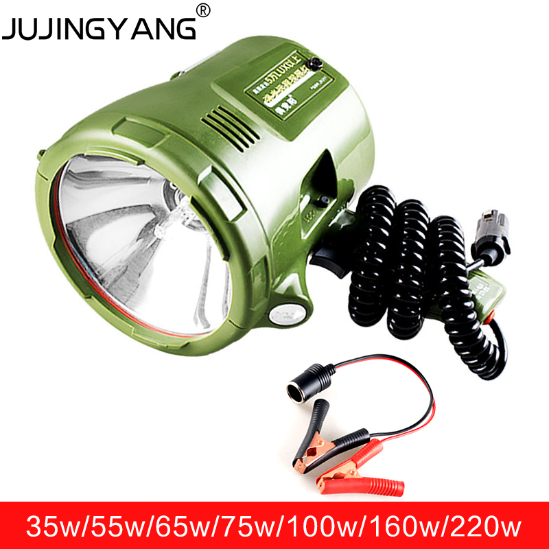 220 w Projecteur Marin, 160 w CACHÉ projecteur 12 v 100 w lampe au xénon, 35 w/55 w/65 w/75 w Projecteur portatif pour la voiture, la chasse, le camping, bateau,