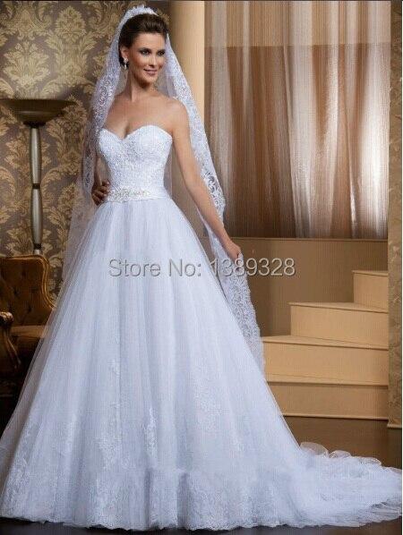 Fashion Design Elegant White Lace Wedding Dresses 2015 Robe De Mariage Vestido de Noiva Custom Made