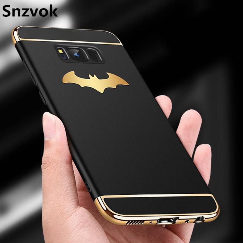Snzvok 3D Batman Ailes 3 dans 1 PC Cas pour Samsung S6 S7 bord S8 S9 plus couverture De Luxe pour Galaxy A5 A6 A7 A8 J4 J6 2018 Note 8 5