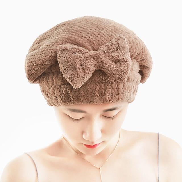 Quick Dry Bath Hair Drying cap Towel Head Wrap Hat Makeup cosmetics Cap Bathing Tool a803 15