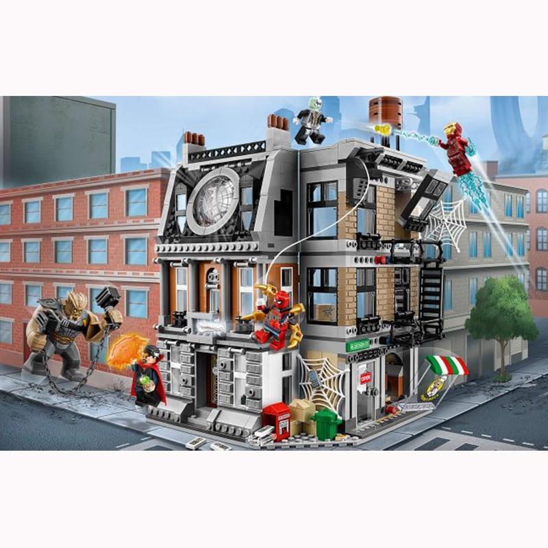 Marvel's The Avengers Infinity War Sanctum Sanctorum Showdown fit LegoINGlys 76108 Model Building Block Set Kids Brick Toy цена