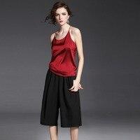 Women Real Silk Tanks & Camis 100% Silk Satin Camisole Pure Mulberry Silk Fabric Underwear Womens Casual Organic Fabrics Tops