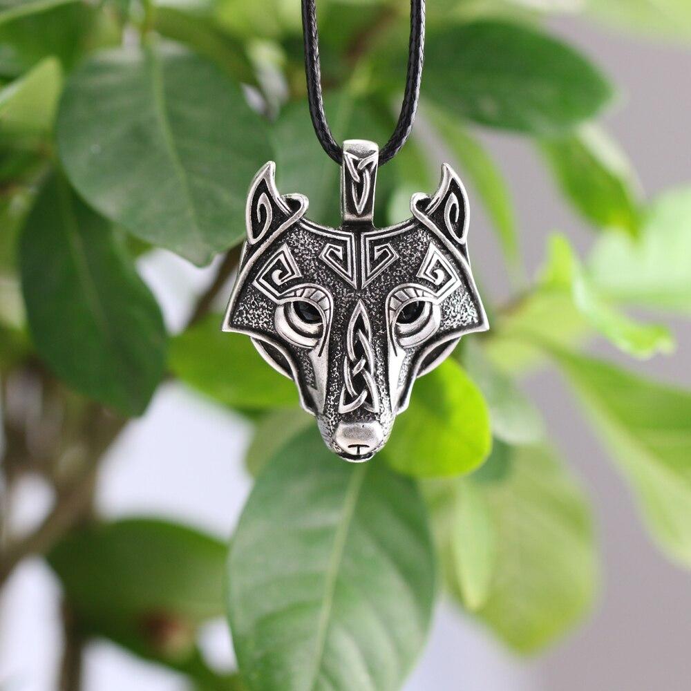 Vikings Vikings Collier Pendentif Vikings Tête Loup Collier original Animal Bijoux