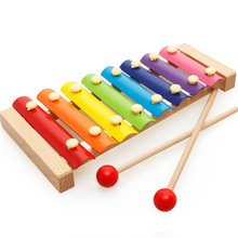 Kids  Children's Musical Toys Octave Knock On The Piano Xylophone Wooden sticks Baby Preschool Education Musical Instrument