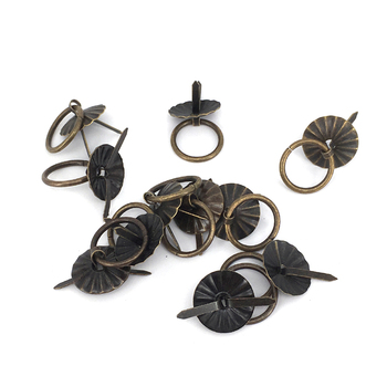 10PCS 19mm Metal furniture handle Antique drawer Drop Ring Dresser knobs Cabinet Chest jewelry box Pull handle