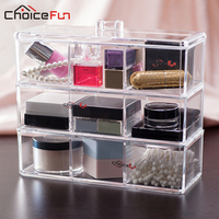 CHOICEFUN Home DIY Acrylic Plastic Grid Divided Divider Storage Organize Bathroom Desk Storage Makeup Box Cosmetics Organizers