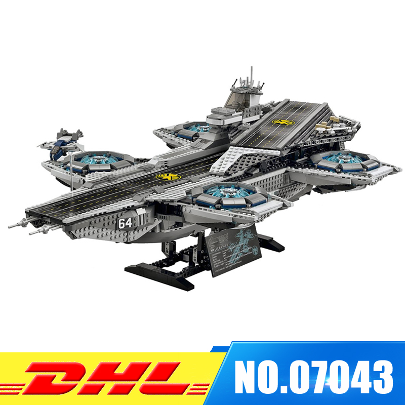 DHL Fast shipping 3057Pcs LEPIN 07043 Super Heroes The SHIELD Helicarrier Model Building Blocks Bricks Boy Toys Compatible 76042 dhl fast shipping 1990pcs lepin 05047 ucs ewok village building blocks juguete para construir bricks toys compatible 10236