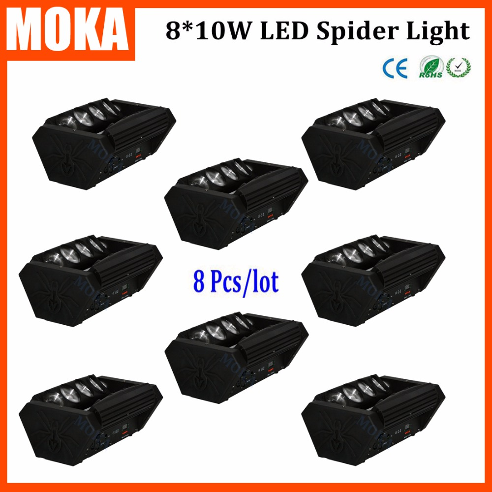 8PCS/LOT Dj Concert Show Event Wedding 8PCS*10W Led Beam Moving Head Light Certificate With CE RoHS|beam moving head light|moving head light|led beam moving - title=