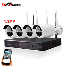 Wireless HD CCTV System 4CH Kit Plug&Play P2P HD 960P 20m Night Vision Waterproof Camera DVR Wireless CCTV Packages
