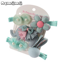 Womens Clothing Accessories - Apparel Accessories - Girls' Hairclips Kits Character Grosgrain Ribbon Hairbows Handmade Hairpins Children's Barrettes Kids Hairgrips Hair Accessories