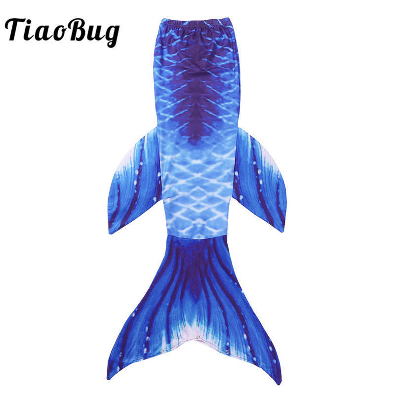 TiaoBug Kids Girls Scales Pattern Mermaid Tail for Photography Children Cosplay Costume Role Play Pool Party Outfit Age 3-10