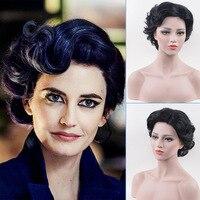Eva Green Wig Miss Peregrine's Costume Adult Ladies 1920s Vintage Short Curly Hair Womens Halloween Fancy Costume Accessories