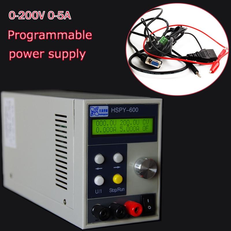 Programmable power supply 220V DC Power supply 0-200V 0-5A Adjustable precision power supply laboratory ka3005p programmable precision adjustable dc linear power supply digital 30v 5a 0 01v 0 001 laboratory power