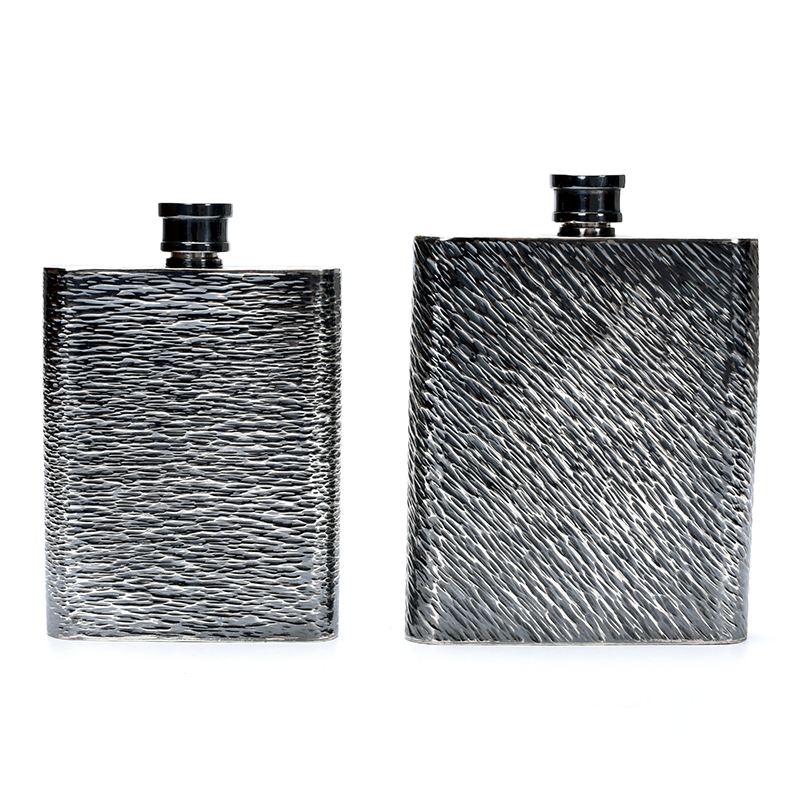 Pure Silver Military Silver Wine Bottle Portable Pure Silver 999 Alcoholics Antique Household Gifts|Teaware Sets| |  - title=