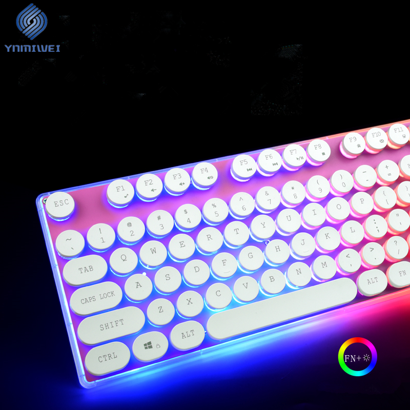 Backlight Gamer Keyboard 104 Keys RGB Switch Klavye Led Usb Wired Gaming Keyboard Office Computer Keyboards me too gaming keyboard 87 104 keys blue red black switch wired led backlight mechanical keyboard for computer laptop games gamer