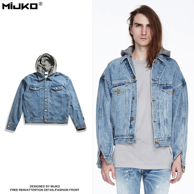 2a9d46f0f MIJKO Mens 2017 Autumn Drop Shoulder Loose Coat Pocket All match ...