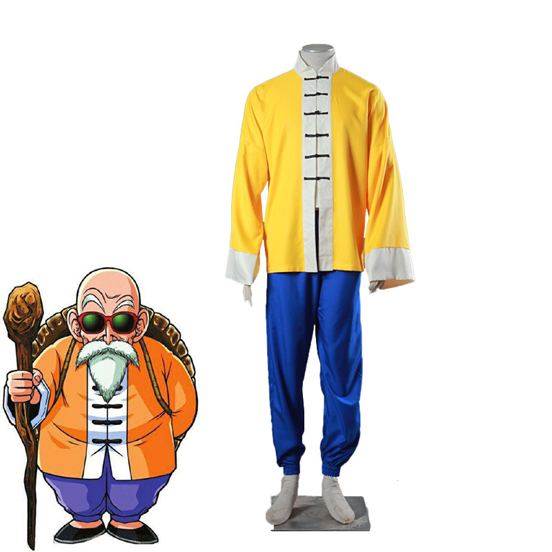 Dragon Ball Kame Sennin Master Roshi Cosplay Costume Chinese Kungfu Uniforms Unisex Halloween Carnival Outfits Custom Made