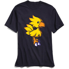 цена Final Fantasy Chocobo T Shirt Men Summer T-shirt O Neck Cool Man Tees Male Oversize Tshirt Popular Exercise Fitness Guys TShirts
