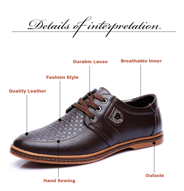 HTB1jubzbwDD8KJjy0Fdq6AjvXXac 2019 Men Leather Casual Shoes Men's Lace Up Footwear Business Adult Moccasins Male Shoes Chaussure Home