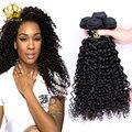 Kinky curly cabelo brasileiro molhado e ondulado virgem cabelo brasileiro cabelo humano trama encaracolado 3 pacotes maxglam cabelo profunda brasileira encaracolado