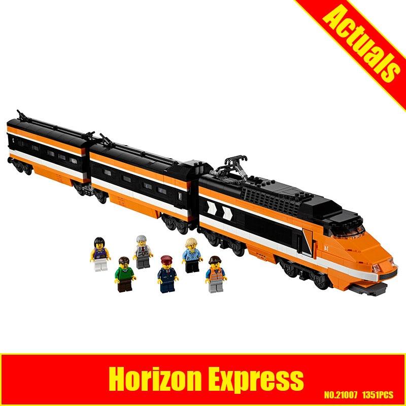 LEPIN 21007 1351Pcs Series Horizon Express Model Building Kit Blocks assemble Bricks Compatible Children Educational Toys 10233