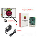 Raspberry Pi3 Model B Board+3.5 LCD HDMI Screen Monitor Display TFT LCD Module 1920x1080+5V 2.5A Power Supply