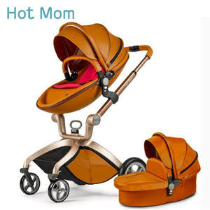 Sleeping-Basket Stroller Hotmom Folded High-Landscape To Brown 2in1 White Russia Lie