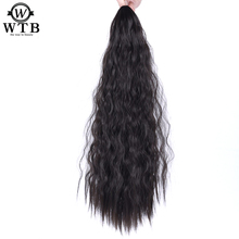 WTB Claw Drawstring Clip In Hair Extensions Ponytail Claw Hair Pieces Heat Resistant Synthetic Long Kinky Curly Ponytail Hair charming shaggy tacos curly fashion highlight heat resistant synthetic long ponytail for women
