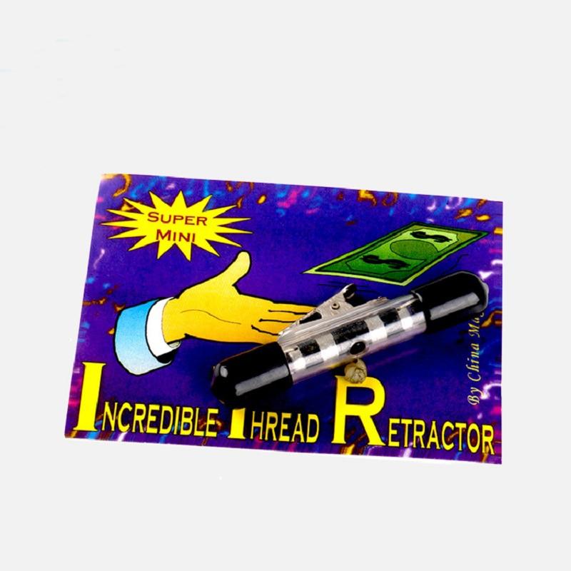 Beifang Magic - Mini ITR osynlig tråd retractor Reel magiska tricks magiska rekvisita
