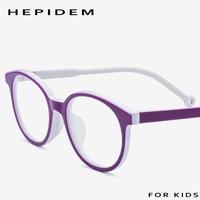 6 12 (Years Old) Kids Children Acetate Eyeglasses Frame Boys Girl Myopia Optical Frames New Round Child Glasses Spectacles 87002